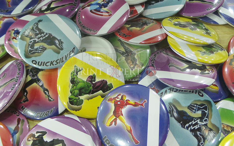 Button Badge Samples: Photo 1